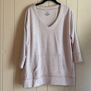 Heather gray pink sweat